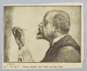 Jan Veth aan het werk