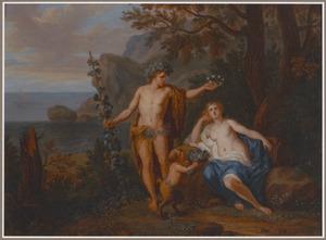 Bacchus krooont Ariadne met een sterrenkroon en verheft haar naar de sterren als constellatie