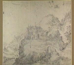 Berglandschap met kasteel
