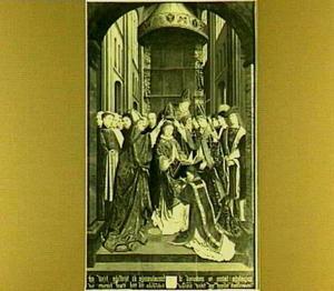 De investituur van de H. Rombout als bisschop van Dublin
