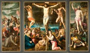 De kruisiging (Hosden triptiek) (Mattheus 27: 45-58)