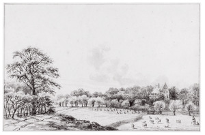 Landschap met landhuis