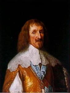Philip Herbert, 4th Earl of Pembroke en 1st Earl of Montgomery (1584-1650), als Lord Chamberlain met de Orde van de Kousenband