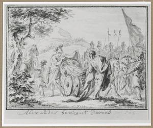 Alexander de Grote beweent Darius