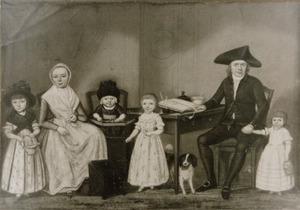 Portret van de famile van Derk Evekink (1764-1833)