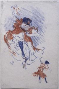 Dansende vrouw - studies