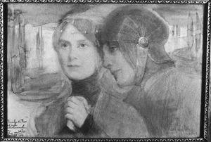 Dubbelportret van Allard Philip Reinier Carel van der Borch van Verwolde (1881-1944) en Engelberta Antoinette Henriette de Roo (1887-1929)