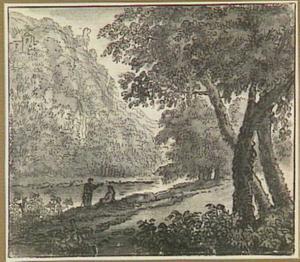 Boomrijk heuvellandschap met rivier