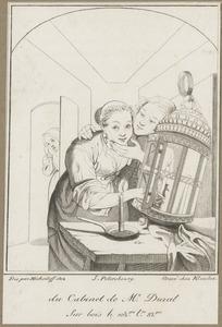 Amoureus paar betrapt bij het aansteken van een lantaarn