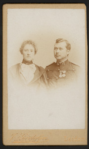 Portret van Gotfried Coenraad Ernst van Daalen (1863-1930) en Christine Elisabeth de Lang Evertsen (?-?)