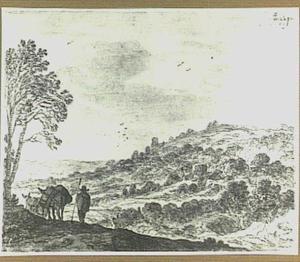 Heuvellandschap met ezeldrijver