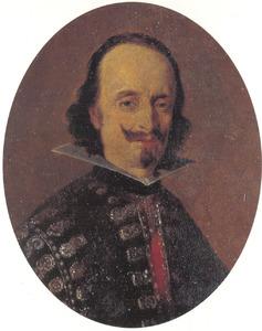 Portretminiatuur van Don Caspar de Bracamonte y Guzmán, Conde de Peñeranda (1596-1676), leider van de Spaanse delegatie bij de vredesonderhandeling te Münster