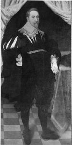 Portret van koning Gustaaf II Adolf (1594-1632) van Zweden