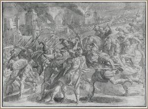 De gevangeneming van koning Zedekia van Juda door de Chaldeeen (2 Koningen 25:5-6)