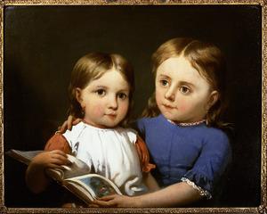 Portret van Dorothea Johanna Steinmetz (1849-1921) en Catharina Christina Emma Steinmetz (1851-1909)