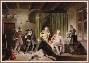 Discussie tussen astronomen, in interieur