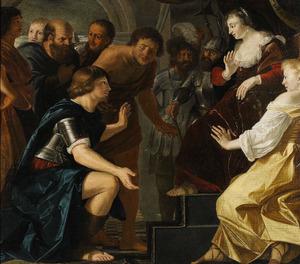 Aeneas neemt afscheid van Dido