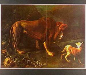 De fabel van de leeuw en de vos (Aesopus)