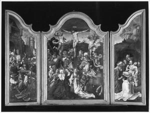De geboorte van Christus (linkerluik); De aanbidding van de Koningen (middendeel); De vlucht naar Egypte (rechterluik)