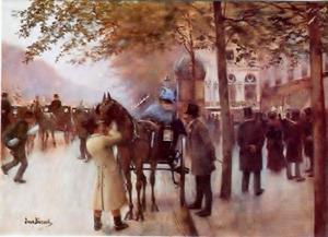 Boulevard des Capucines, Parijs, voor Café Napolitain