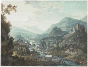 Gefantaseerd Rijnlandschap