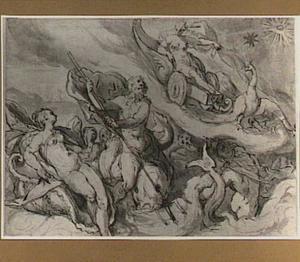 Juno beklaagt zich bij Oceanus en Thetis dat Arcas en Callisto als Grote en Kleine Beer aan het hemelgewelf staan (Metamorfosen 2:22)