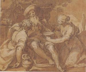 Lot en zijn dochters (Genesis 19: 30-38)