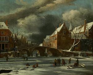 Amsterdam; het Spui en de Nieuwezijds Voorburgwal in de winter