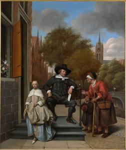 Dubbelportret van Adolf Croeser (1612-1668) en zijn dochter Catharina Croeser (1642-?)