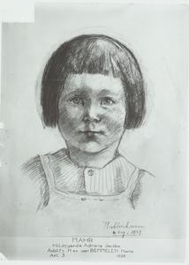 Portret van Hildegarda Adriana Jacoba Mahr