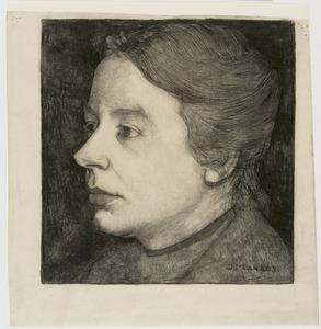 Annie Mankes-Zernike, bijna in profiel naar links