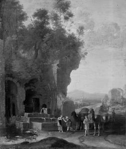 Rebekka ontmoet Eliezer bij de waterput (Genesis 24: 11-18)