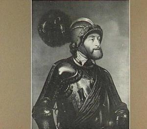 Portret van keizer Karel V in wapenuitrusting