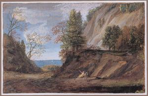 Berglandschap met boetende Maria Magdalena