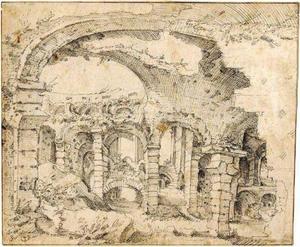 Romeinse ruïnes, mogelijk op de Palatijn