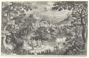 Landschap met de vondst van Mozes (Exodus 2, 5-6)