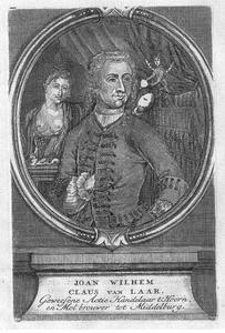 Portret van Jan Willem Claus van Laar (197-1749)