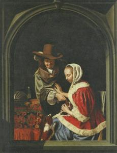 Man en vrouw met twee hondjes