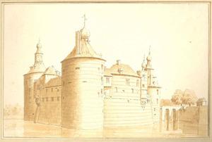 Kasteel Batenburg van de achterzijde