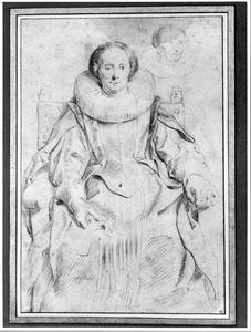 Portret van Catharina Behaghel, echtgenote van Rogier Le Witer