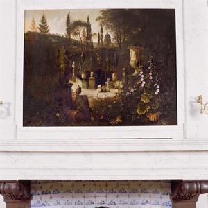 De tuin van de villa Doria Pamfili in Rome