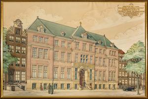 Het gebouw  van Brentano's Steun des Ouderdoms aan de Keizersgracht te Amsterdam