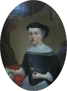 Portret van Anne Christophersdatter (1629-1670), eerste vrouw van Hans Sørensen Leth (1625-1688)