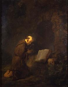 De H. Franciscus in gebed