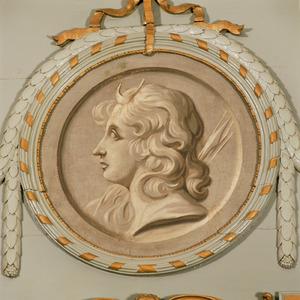 Medaillon met Diana
