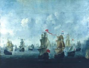 Zeeslag tussen de Nederlandse en Britse vloot
