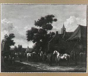 Dorpsstraat met markt
