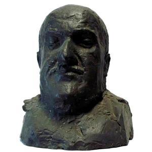 Portret van Lodewijk van Deyssel, pseudoniem voor Karel Joan Lodewijk Alberdingk Thijm (1864-1952)l