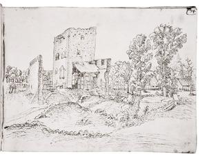 Dorp met (kasteel)ruïne