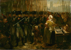 Intocht der vrijcorpsen te Rotterdam in 1785